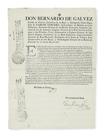 (MEXICO.) Charles IV, King of Spain. Royal decree forbidding the branding of slaves.