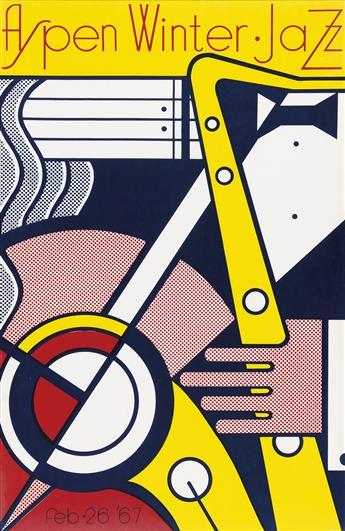 ROY LICHTENSTEIN (1923-1997). ASPEN WINTER • JAZZ. 1967. 39x28 inches, 100x72 cm.