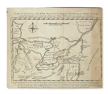 (AMERICAN INDIANS.) Colden, Cadwallader. The History of the Five Indian Nations of Canada.
