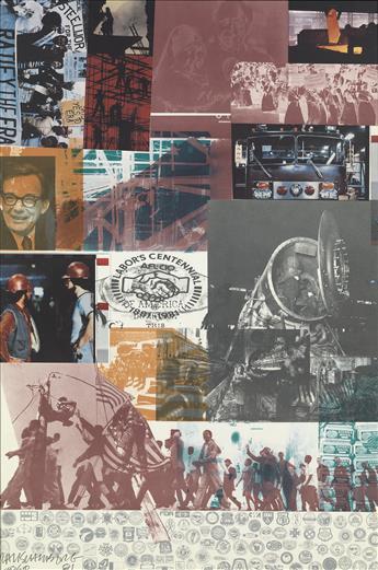 ROBERT RAUSCHENBERG Commemorative Artwork (AFL-CIO Centennial).