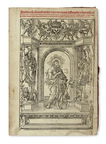 BIBLE IN LATIN.  Biblia cu[m] co[n]cordantiis veteris [et] novi testamenti [et] sacrorum canonum.  1518