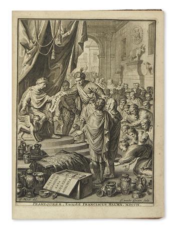 BIBLE IN GREEK.  He Palaia Diatheke kata tous Hebdomekonta. Vetus testamentum ex versione septuaginta interpretum.  1709