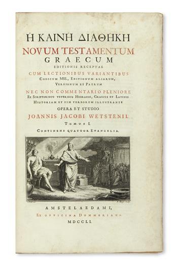 BIBLE IN GREEK.  He Kaine Diatheke. Novum testamentum Graecum.  2 vols.  1751-52