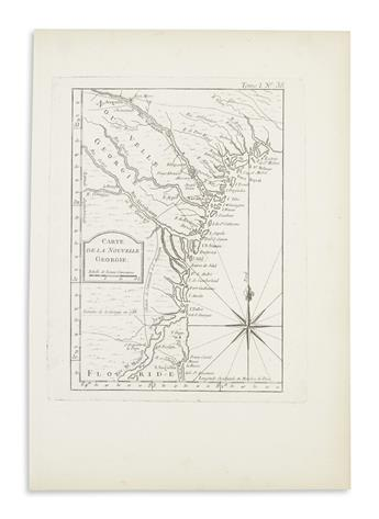 BELLIN, JACQUES-NICOLAS. Group of 6 small-scale engraved charts
