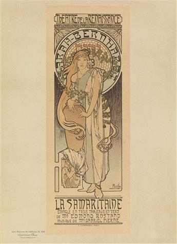 ALPHONSE MUCHA (1860-1939).. SARAH - BERNHARDT / LA SAMARITAINE. Maîtres de lAffiche pl. 166. 1899. 15x11 inches, 40x28 cm. Chaix, Par