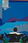 ROMARE BEARDEN (1911 - 1988) Martin Luther King, Jr. -- Mountain Top.