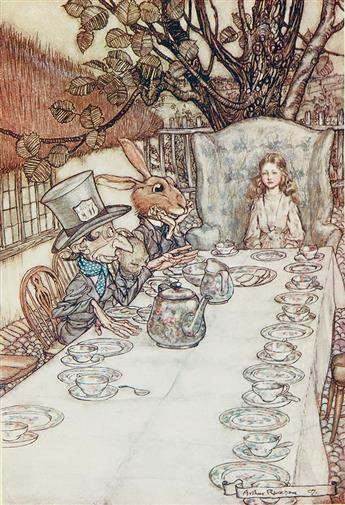 CARROLL, LEWIS.  ARTHUR RACKHAM.  Alices Adventures in Wonderland.