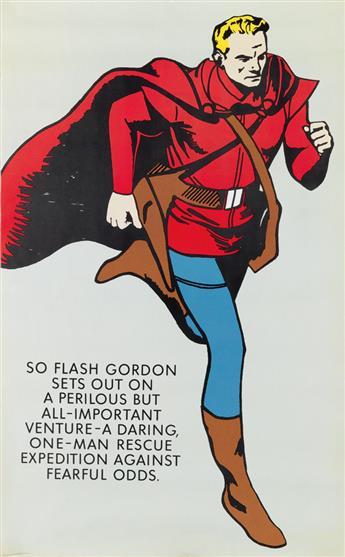 DESIGNER UNKNOWN. [FLASH GORDON.] 1965. 51x31 inches, 131x80 cm. United Book Guild, New York.