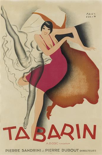 PAUL COLIN (1892-1986. TABARIN. 1928. 23x15 inches, 58x38 cm.