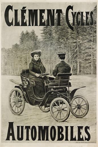 PHOTOGRAPH BY L. GEISLER (DATES UNKNOWN). CLÉMENT CYCLES / AUTOMOBILES. Circa 1894. 45x31 inches, 116x80 cm. L. Geisler, Paris.