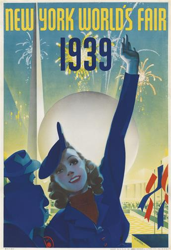 ALBERT STAEHLE (1899-1974). NEW YORK WORLDS FAIR. 1939. 19x13 inches, 50x34 cm. Grinnell Litho Co., New York.
