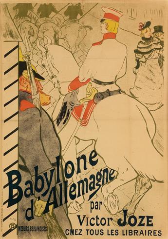 HENRI DE TOULOUSE-LAUTREC (1864-1901). BABYLONE DALLEMAGNE. 1894. 53x36 inches, 134x92 cm. Chaix, Paris.