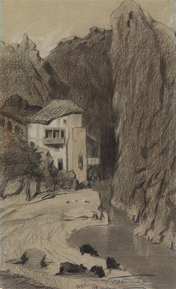 CÉLESTIN NANTEUIL (Rome 1813-1873 Bourron-Marlotte) Collection of approximately 50 drawings.