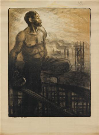 THÉOPHILE-ALEXANDRE STEINLEN (1859-1923). [EXPOSITION DE PEINTURES.] 1903. 53x39 inches, 136x99 cm. Ch. Wall & Cie., Paris.