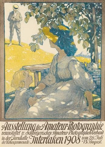 BURKHARD MANGOLD (1873-1950). AUSSTELLUNG FÜR AMATEUR - PHOTOGRAPHIE. 1908. 39x28 inches, 99x71 cm. Wasserman & Schablin, Basel.