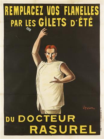 LEONETTO CAPPIELLO (1875-1942). DOCTEUR RASUREL. 1906. 63x47 inches, 160x120 cm. Vercasson & Cie., Paris.