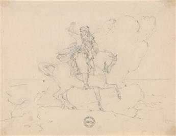 THÉODORE GÉRICAULT (Rouen 1791-1824 Paris) Le Giaour.