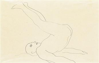 ISAMU NOGUCHI Male Nude with Raised Legs.
