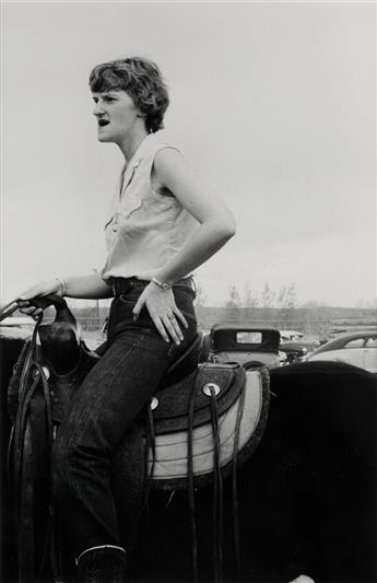 ROBERT FRANK (1924- ) Wyoming, USA (cowgirl).