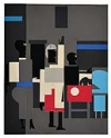 ROMARE BEARDEN (1911 - 1988) Untitled (Four Figures).
