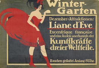 HANS RUDI ERDT (1883-1918). WINTER - GARTEN / LIANE DEVE. 1910. 26x37 inches, 66x94 cm. Hollerbaum & Schmidt, Berlin.