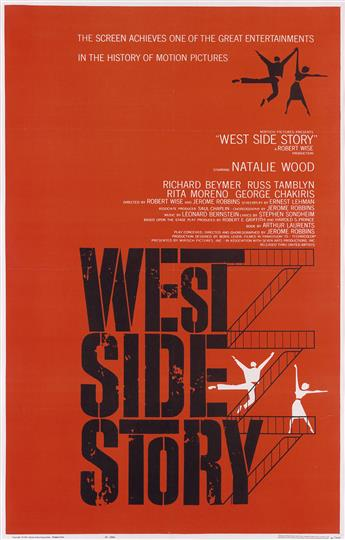 JOSEPH CAROFF (1921- ). WEST SIDE STORY. 1961. 40x25 inches, 102x65 cm. National Screen Service Corp., Englewood, NJ.