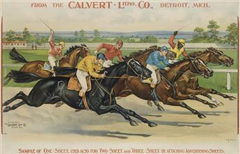 DESIGNER UNKNOWN. FROM THE CALVERT LITHO. CO. 1895. 26x40 inches, 66x103 cm. Calvert Litho. Co., Detroit.