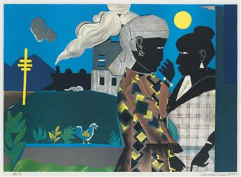 ROMARE BEARDEN (1911 - 1988) The Conversation.