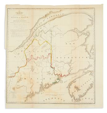 (MAINE.) Dashiell, S.L. Map of the Northern Part of the State of Maine and of the Adjacent British Provinces.