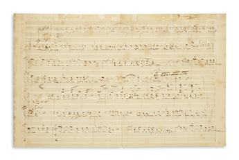 DONIZETTI, GAETANO. Autograph Musical Manuscript Signed, Donizetti, vocal score for an untitled work,