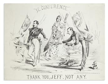 (CIVIL WAR--CONFEDERATE.) Ye Conference: Thank You, Jeff, Not Any.
