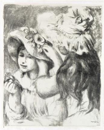 PIERRE-AUGUSTE RENOIR Le Chapeau Epinglé (1e planche).