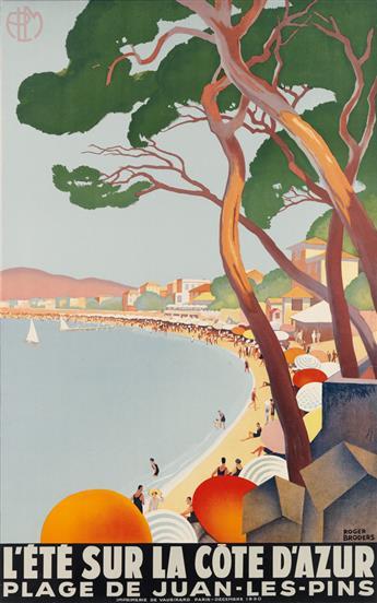 ROGER BRODERS (1883-1953). LÉTÉ SUR LA CÔTE DAZUR. 1930. 39x24 inches, 99x62 cm. Vaugirard, Paris.
