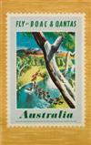 XERIA (DATES UNKNOWN). AUSTRALIA / FLY BY B.O.A.C. & QANTAS. 39x25 inches, 101x63 cm.