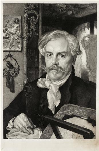 FÉLIX BRACQUEMOND Portrait dEdmond de Goncourt.
