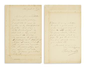 DVORÁK, ANTONÍN. Autograph Letter Signed, to music publisher Alfred Littleton (My dear friend Littleton), in English,