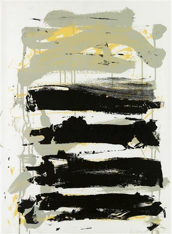 JOAN MITCHELL Champs (Black, Gray and Yellow).