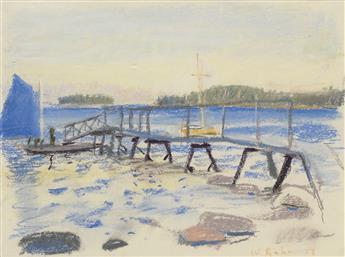 WOLF KAHN Billies Dock (Stonington, Maine).