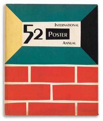VARIOUS ARTISTS. INTERNATIONAL POSTER ANNUAL. Group of 8 volumes. 1949-1957. 11x9 inches, 30x24 cm.