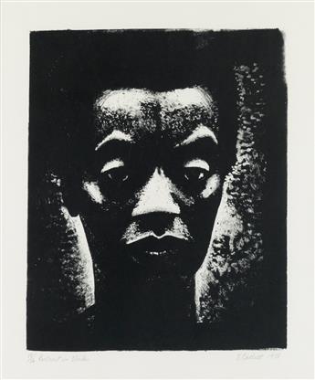 ELIZABETH CATLETT (1915 - 2012) Portrait in Black.