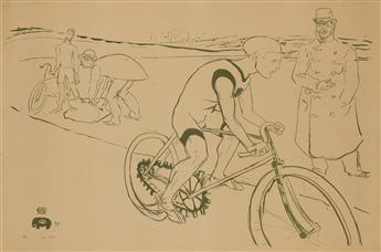 HENRI DE TOULOUSE-LAUTREC (1864-1901). [CYCLE MICHAEL.] 1896. 34x50 inches, 88x127 cm. Chaix, Paris.