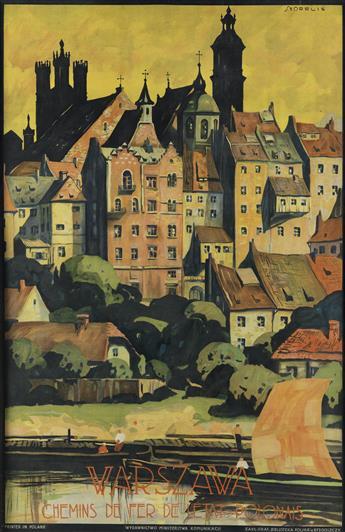 STEFAN NORBLIN (1892-1952). WARSZAWA. Circa 1925. 29x19 inches, 75x50 cm. K. Kozianskich, Warsaw.