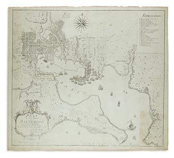 FOLIE, A[NTOINNE] P[IERRE]. Plan of the Town of Baltimore and its Environs.