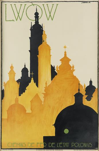 STEFAN NORBLIN (1892-1952). LWÒW. 1928. 29x19 inches, 75x50 cm. Bibljoteka Poliska, Bydgoszczy.