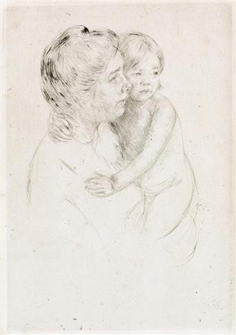 MARY CASSATT Denise Holding her Child.