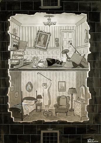 (THE NEW YORKER.)  CHARLES ADDAMS. Noisy Neighbor.