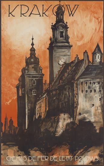 STEFAN NORBLIN (1892-1952). KRAKÓW. Circa 1935. 42x27 inches, 107x69 cm. K. Kozianskich, Warsaw.