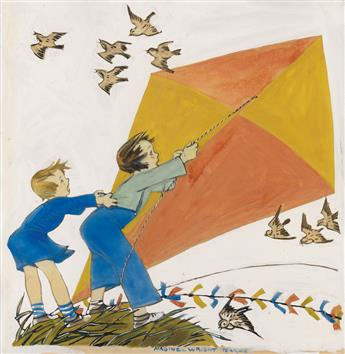 MAGINEL WRIGHT ENRIGHT BARNEY. Flying a Kite.