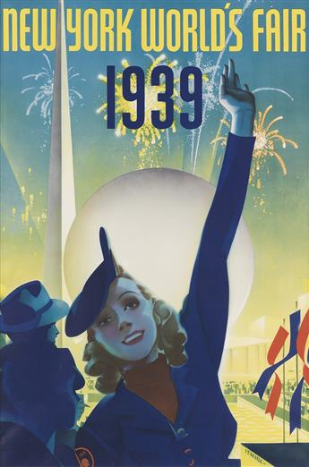 ALBERT STAEHLE (1899-1974). NEW YORK WORLDS FAIR. 1939. 30x20 inches, 76x50 cm. Grinnell Lith Co., New York.