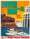 C. PEET (DATES UNKNOWN). HOOVER DAM AND LAKE MEAD / UNION PACIFIC RAILROAD. 32x25 inches, 81x63 cm.